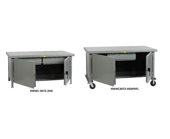 ALL-WELDED CABINET WORKBENCHES - HEAVY-DUTY